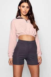 Cropped Zip Sweatshirts