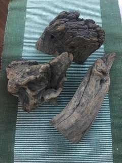 3 pcs wood for display