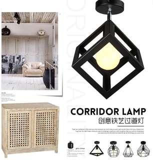 Led cube ceiling lamp corridor lighting