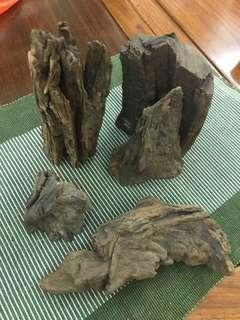 5 pcs wood for display