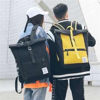 [PO] Korean Ulzzang hip hop unisex trendy colours block backpack