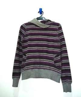 Terranova Purple Stripe and Hooded Sweatshirt