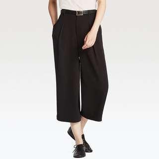 Uniqlo drape wide leg ankle length pants