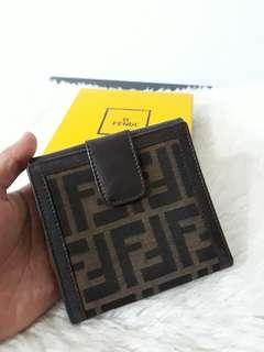 Authentic FENDI milano mono FF zucca bifold medium snap wallet. .