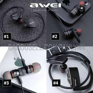 Bluetooth Earphone Sports Gym Headphone Awei B922 883 847 AK9