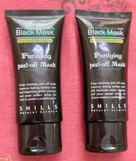 Preloved all black mask masker hitam
