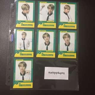 BTS 3RD MUSTER GOODS PLAYER CARD JIN COMPLETE SET