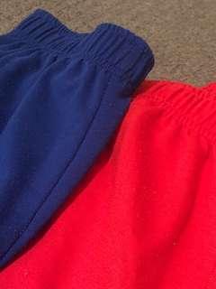 Red + blue basic sweatpants