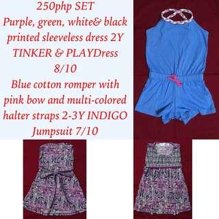 Set of INDIGO Jump shorts and Purple Dress by Tinker and Play for kids girls
