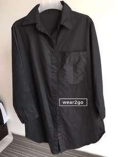 Black Long Shirt #POST1111