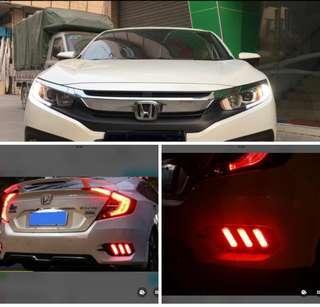 18 Honda civic LED Rear Bumper Reflector light