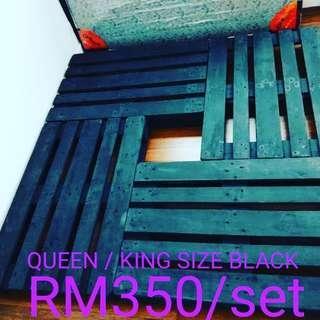PALLET QUEEN/KING BLACK (1 LAYER SUSUN LEGO)