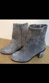 Lane Crawford Pedder Red suede boots