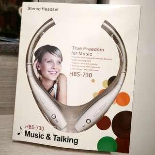 全新Stereo掛頸式無線藍芽耳機(可高清通話/聽MP3) Brand New Stereo Hanging Neck Wireless Bluetooth Headset (Can be High-Definition Call/Listen to MP3)