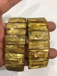 🚚 5A+等級鈦晶手排 買一送一 大版霸氣 黃金滿絲