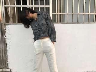 Meier.q白色挺版西裝褲