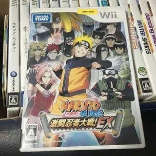Nintendo Wii Naruto Shippuden: Gekito Ninja Taisen! EX Great Ninja Battle Japan Video Game