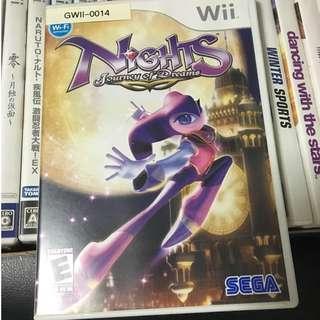 Nintendo Wii Sega Nights Video Game