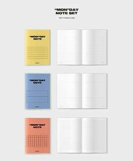 "Selling ""MON""DAY NOTE SET from MONSTA X SEASON'S GREETINGS separately"