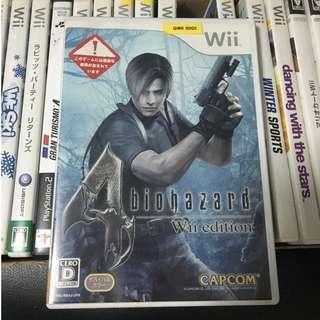 Nintendo Wii Biohazard 4 Resident Evil Capcom Japan Video Game