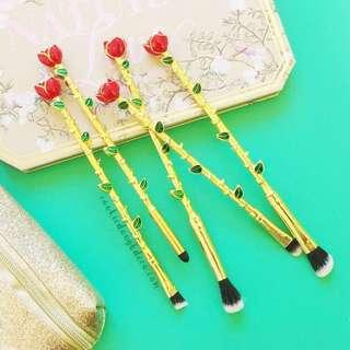 🚚 Beauty and the Beast Inspired Rose Makeup Brushes