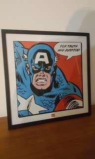 Framed Captain America