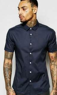 ASOS Smart Shirt in Charcoal XXS
