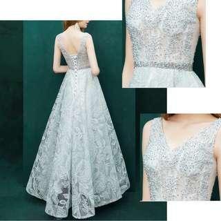 Ladies - Carmel Beaded Evening Gown L1854