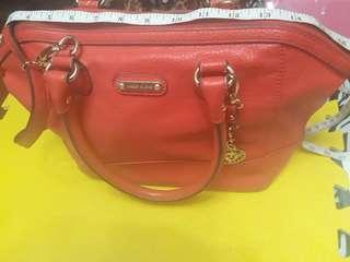 Anne kLein orange 2 way bag