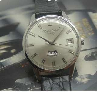 OLYMPIA ORIENT WEEKLY ANTISHOCK 19 JEWELS HAND WINDING WATCH