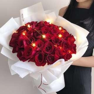 Proposal bouquet   40 roses   Rose Bouquet   99 Roses   Birthday Flower Bouquet