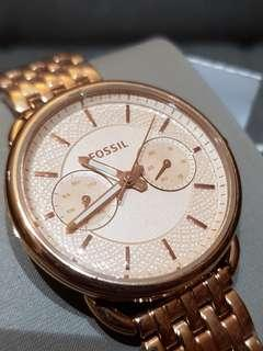 Fossil TAILOR MULTIFUNCTION ROSE-TONE STAINLESS STEEL WATCH  ES3713