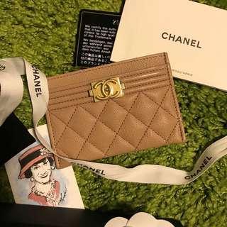 Chanel boy cardholder
