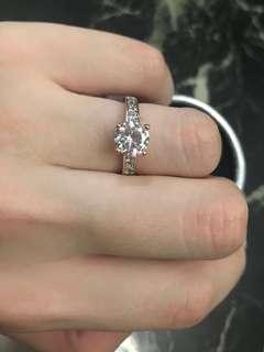 🎄Sale!🎄Swarovski crystal gold filled Diamond Ring Rose Gold