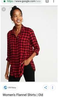 women's red flannel outerwear