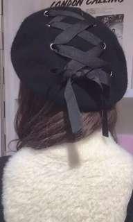 Princess  🎀 tied beret hat