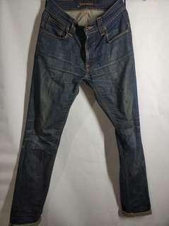 Nudie Jeans ORIGINAL Thin Finn Ecru Embo size W27 L32