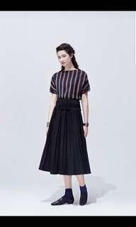 Initial black skirt with tassel belt size 1