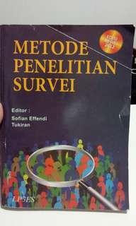 Buku Metodologi Penelitian Survei by Sofian Effendi
