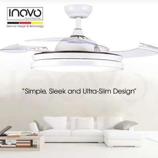 Hideaway Ceiling Fan / ceiling light (LED) for living room, dining room and bedroom at $290 ONLY (Retail $599) Best design Award. renovation / bathroom accessories / toilet accessories / fanco, crestar, kdk