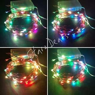 🚚 5Meter 50Leds Multi Color Battery Operated Fairy Light