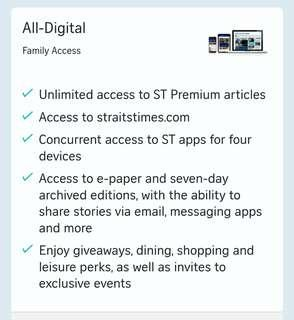Straits Time Subscription Sharing (LAST SLOT)