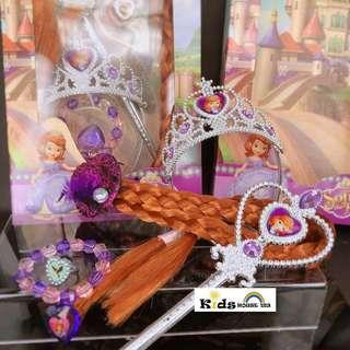 🚚 Sofia Hair Accessory Crown Wig Magic Wand Cosplay for Girls A063