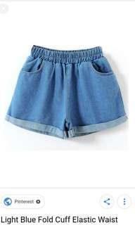 INSTOCK - light blue denim shorts
