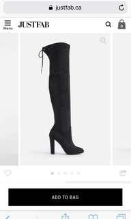 Over the knee black boots size 7