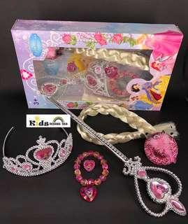 🚚 Snow White Hair Accessory Crown Wig Magic Wand Cosplay for Girls A062