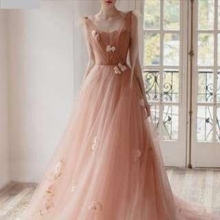 Ladies - Eliza Flower Motif Evening Gown L1857