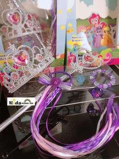 🚚 My Little Pony Hair Accessory Crown Wig Magic Wand Cosplay for Girls A061