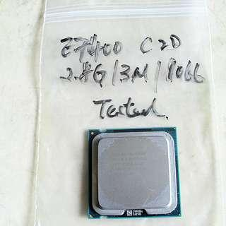 二手Intel E7400 2.8GHz Core 2 Due SOCKET 775 CPU一粒