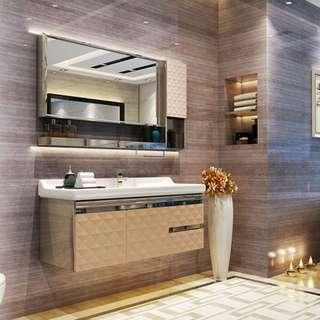 Vanity Cabinet, vanity top and basin cabinet with basin tap, rain shower rainshower renovation plumbing, interior designer, toilet accessories / bathroom accessories / towel rack / bathtub / shampoo rack / mixer tap / plumber / faucet, basin tap